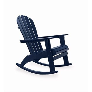 Plow & Hearth Solid Wood Rocking Adirondack Chair