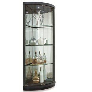 New Spec Inc Lighted Corner Curio Cabinet