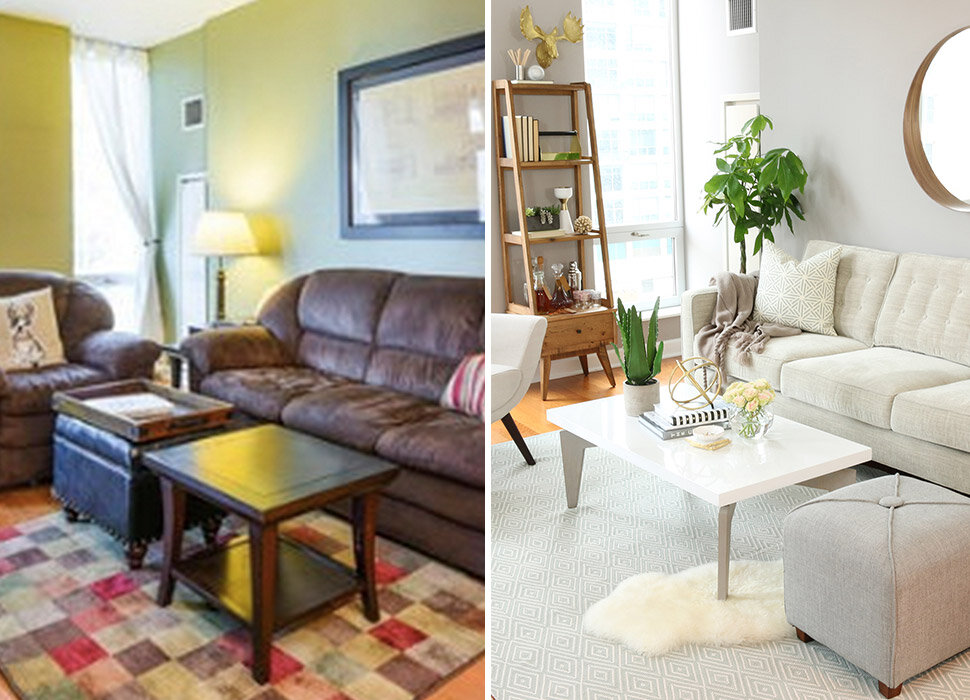 Before After A Lightened Up Living Room Wayfair
