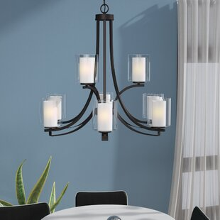 Demby 9-Light Drum/Cylinder Shaded Chandelier