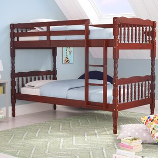 Talon 100% Solid Wood Slat Twin over Twin Bunk Bed by Harriet Bee