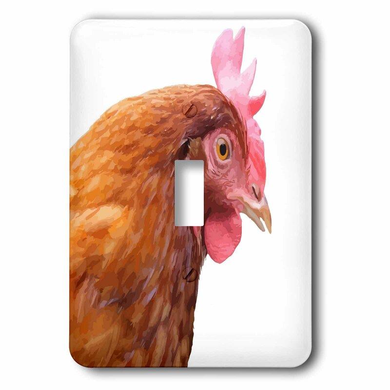 3drose Farmyard Chicken 1 Gang Toggle Light Switch Wall Plate Wayfair