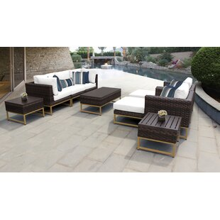 Barcelona Outdoor 10 Piece Sectional Seating Group with Cushions