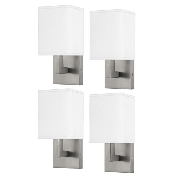 Medallion Lighting Refresh Group 1 Light Dimmable Brushed Steel Armed Sconce Wayfair