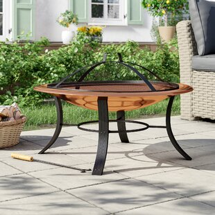 Copper Wood Burning And Charcoal Fire Pit By VonHaus