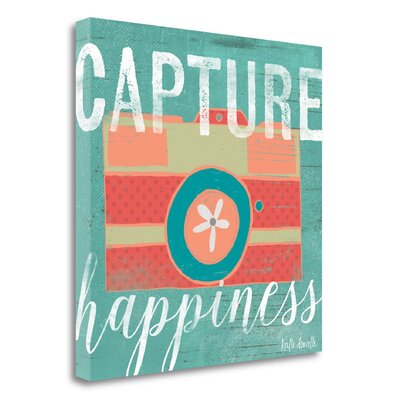 "Capture Happiness' Textual Art on Canvas Tangletown Fine Art Size: 35"""" H x 35"""" W -  SBKA1146-3535c"
