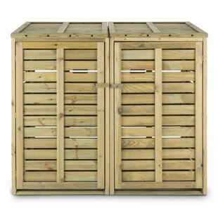 Waldbeck Wooden Double Bin Store By Waldbeck