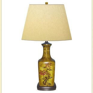 Forget Me Hand Painted Porcelain 32 Table Lamp