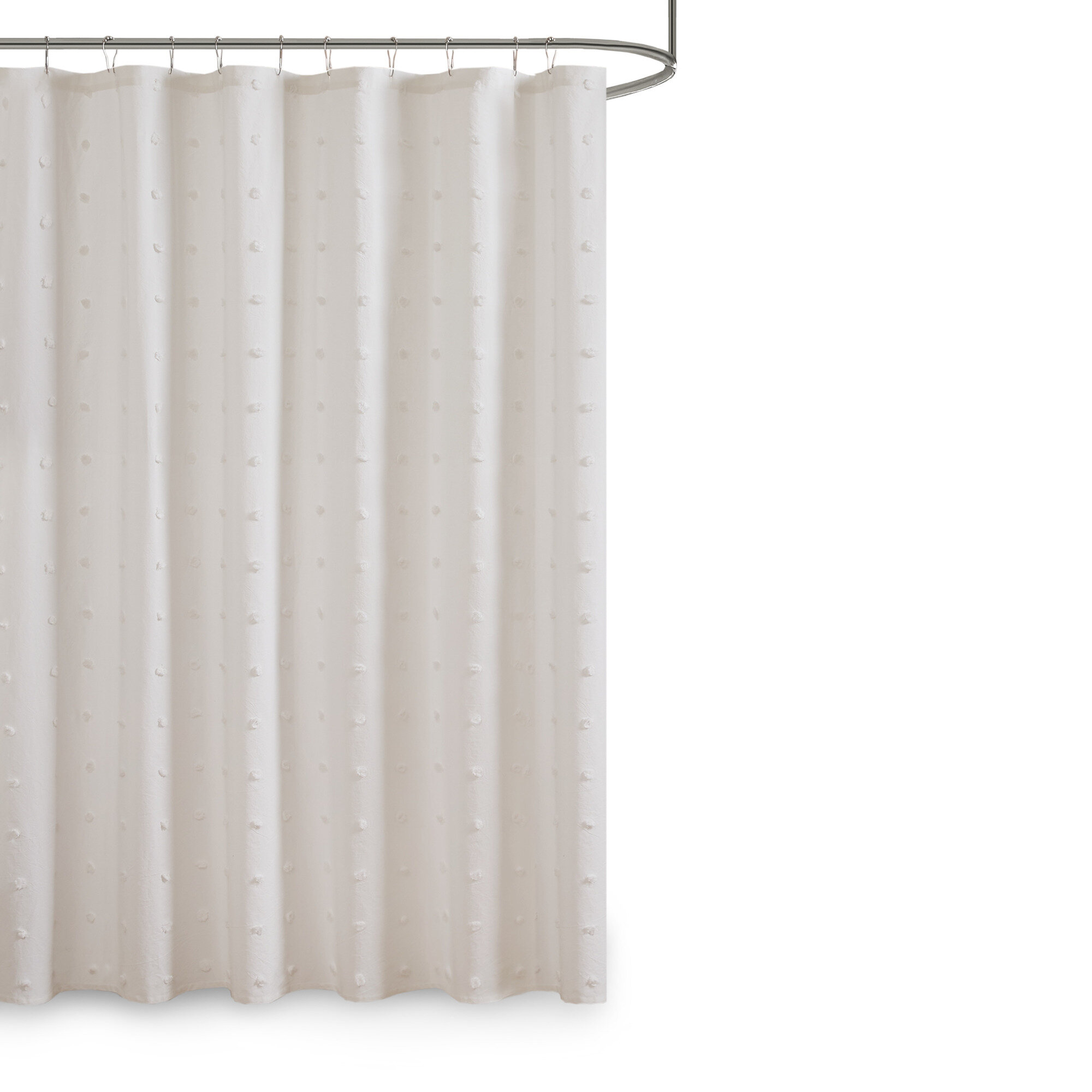 Mdesign Shower Curtain Easy Clean Shower And Bath Curtain