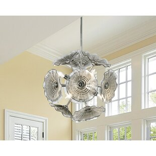 Chafin Art Glass 6-Light Chandelier by Highland Dunes