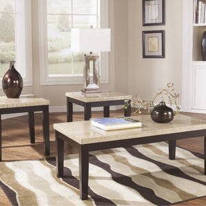 slate & stone coffee table sets you'll love | wayfair