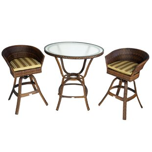 Bayou Breeze Hardin 3-Piece Bar Set