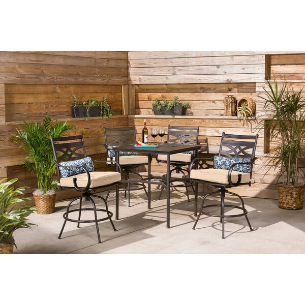 Charlton Home Gehlert Square 4 Person 33 Long Bar Height Dining Set Wayfair
