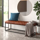 Lorilee Genuine Leather Bench