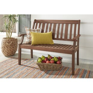 Brook Hollow Wooden Garden Bench by Three Posts Best