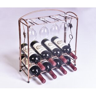Jerseyville 8 Bottle Tabletop Wine Rack b..