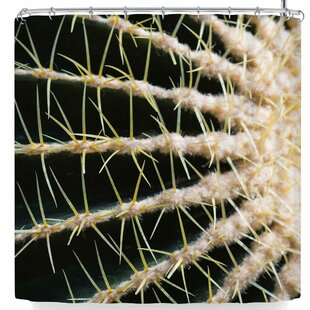 Ann Barnes Barrel Cactus Single Shower Curtain by East Urban Home Today Only Sale