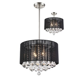 Mercer41 Kent 4-Light Drum Chandelier