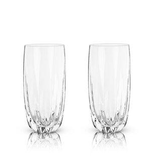 cb9cb950674 Raye Cactus 16 oz. Crystal Highball Glasses (Set of 2)