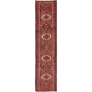 One-of-a-Kind Partingt Gharajeh Persian Hand-Knotted Runner 2'2 x 9'4 Wool Red Area Rug by Bloomsbury Market