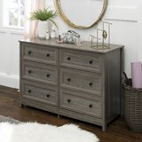 Lindberg Classic Groove 6 Drawer Double Dresser by Gracie Oaks