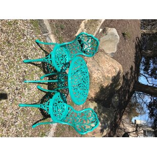 Chicopee 3 Piece cast aluminum bistro set