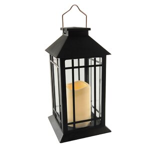 Camila Solar 1-Light Outdoor Hanging Lantern with LED Candle