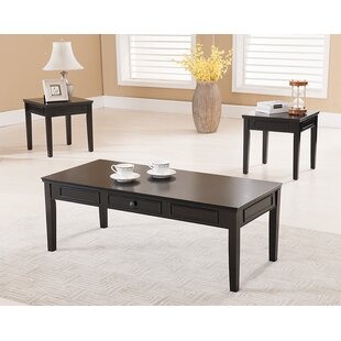 Leisha 3 Piece Coffee Table Set Darby Home Co