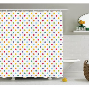 Red And Navy Shower Curtain. Bradford Colorful Polka Dots Shower Curtain Red Curtains You ll Love  Wayfair