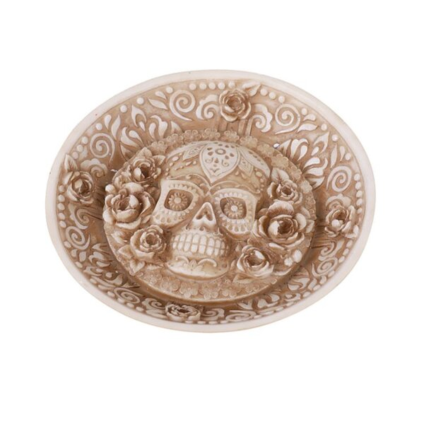 The Holiday Aisle Skull Small Resin Disk Wayfair