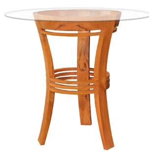 Chic Teak Half Moon Solid Wood Bar Table
