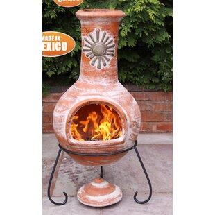 Sol Clay Wood Burning Chiminea By Gardeco