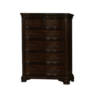 BestMasterFurniture Dark Walnut 5 Drawer Chest