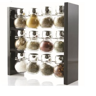 12 Jar Spice Jar & Rack Set