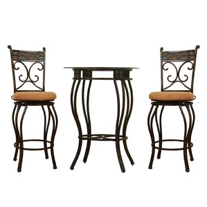 Beau 3 Piece Pub Table Set by Boraam Industries Inc
