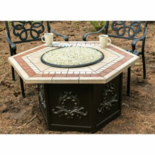 Tretco Chat Height Stainless Steel Propane Fire Pit Table