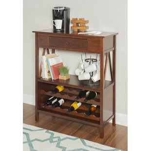 Beckham 14 Bottle Floor Wine Bottle Rack