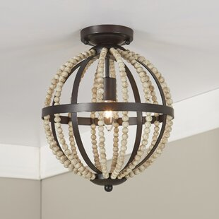 Mccown Beaded Flush Mount by Breakwater Bay