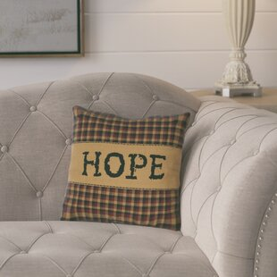 Erekson Hope 100% Cotton Throw Pillow
