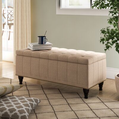 Surprising Charlton Home Jaquez Upholstered Storage Bench Color Beige Squirreltailoven Fun Painted Chair Ideas Images Squirreltailovenorg