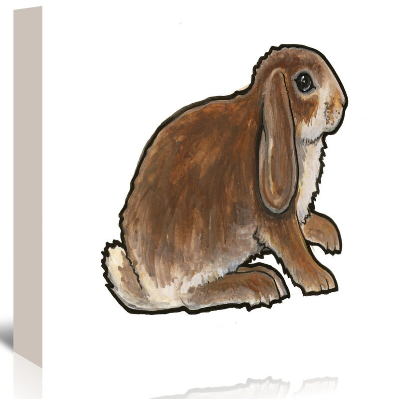 East Urban Home Dwarf Lop 2 Print Of Painting On Wrapped Canvas Wayfair