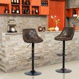 Taha Swivel Adjustable Height Bar Stool by Wrought Studio™