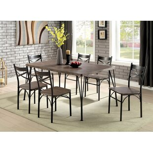 Marilynn 7 Piece Solid Wood Dining Set Williston Forge