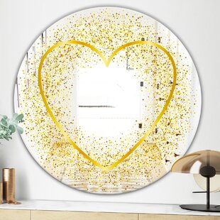 Love and Glitter Vanity Mirror by East Urban Home