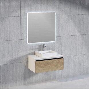 Rebello Bathroom 800mm Wall Hung Single Vanity Unit By Brayden Studio