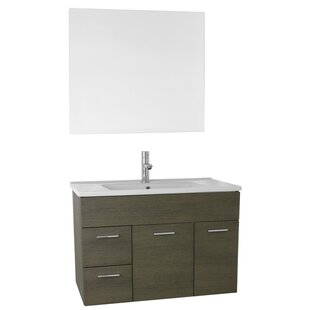 Loren 33 Single Bathroom Vanity Set with Mirror by Nameeks Vanities