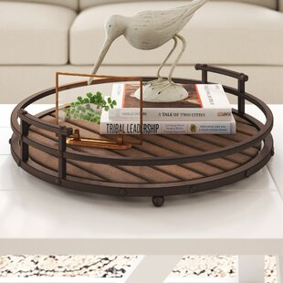 Mequon Slatted Wood Tray