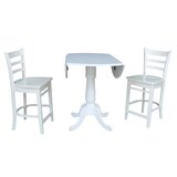 Sakamoto 3 Piece Pub Table Set by Canora Grey