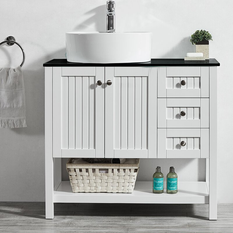 single vanity white bathroom right set wht ariel cambridge r offset products in sink w productimage