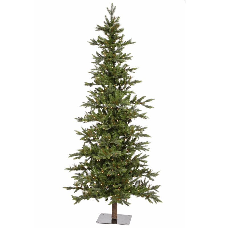 Vickerman Shawnee 8' Green Fir Artificial Christmas Tree with 400 ...